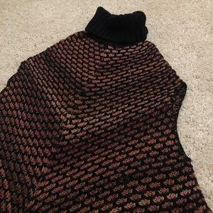 Vertigo Paris Sweaters - Wool Knit Turtleneck Poncho